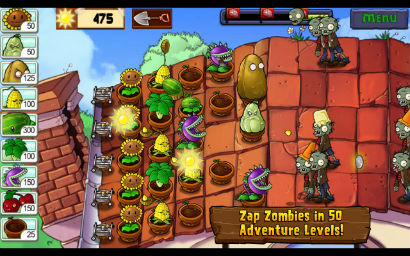 Game plants vs. zombies cho android